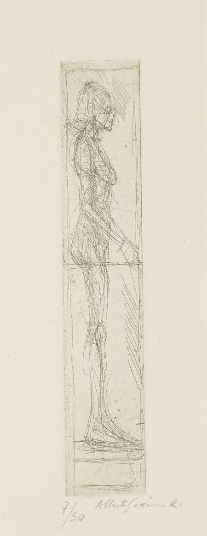 Alberto Giacometti-Nude In Profile (Nu De Profil) (Lust 64)-1955