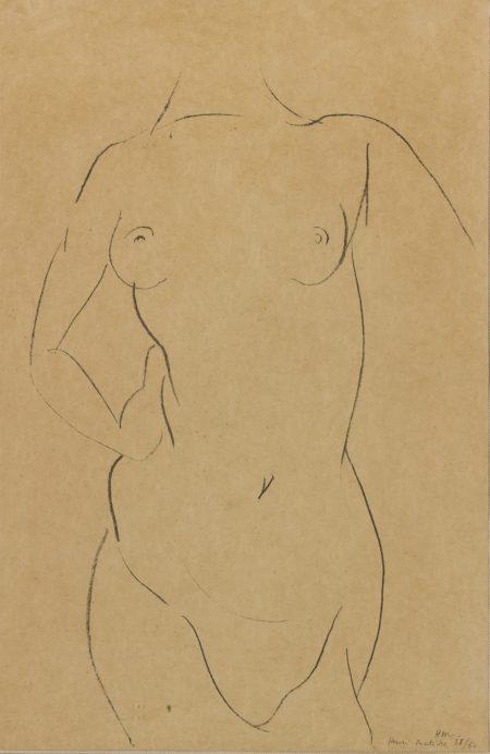 Henri Matisse-Torse De Face (D. 407)-1913