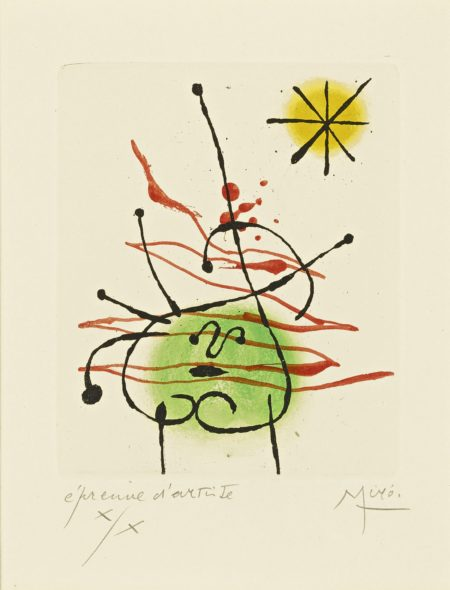Joan Miro-La Bague Daurore (D. 127; See C. Bks. 45)-1957