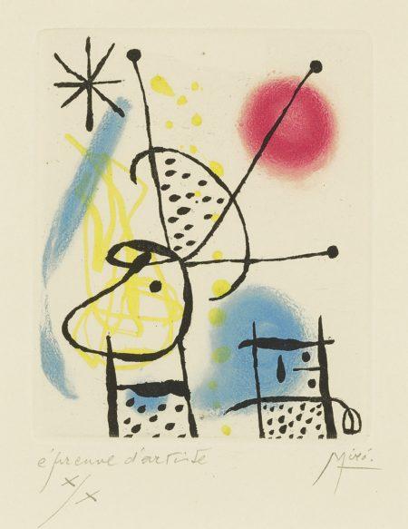 Joan Miro-La Bague Daurore (D. 128; See C. Bks. 45)-1957