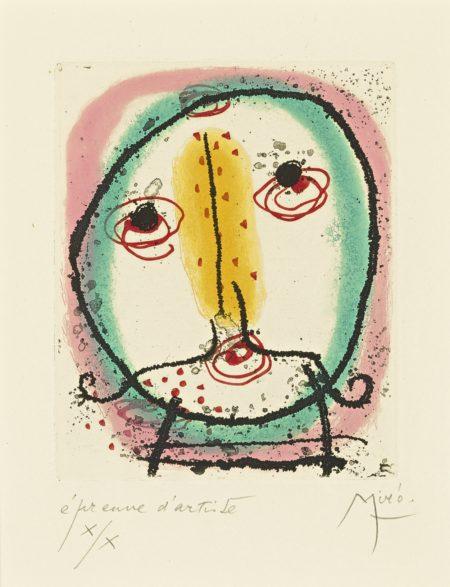 Joan Miro-La Bague Daurore (D. 138; See C. Bks. 45)-1957