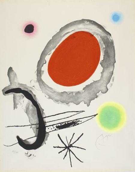 Joan Miro-Oiseau Entre Deux Astres (D. 429)-1967