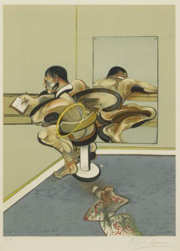 Francis Bacon-Homme Ecrivant Reflete Dans Un Miroir (S. 13)-1977