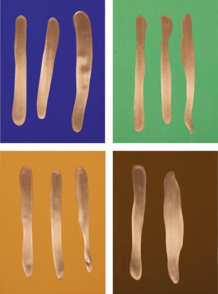Gunter Forg - Mr Blue, Mr Green, Mr Orange And Mr Brown: A Set Of Four-2002