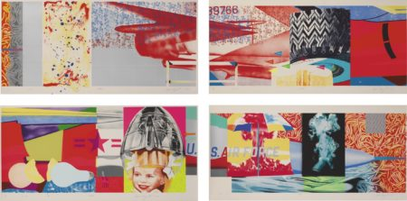James Rosenquist-F-111 (South, West, North, East): A Suite Of Four-1974