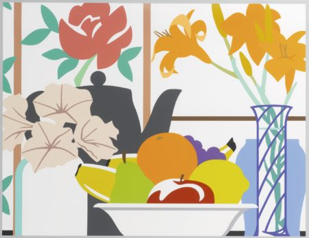 Tom Wesselmann-Still Life With Petunias, Lilies And Fruit-1988