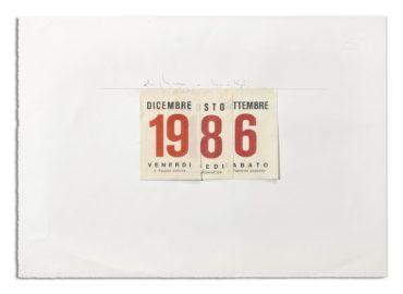 Alighiero Boetti-Calendario-1986