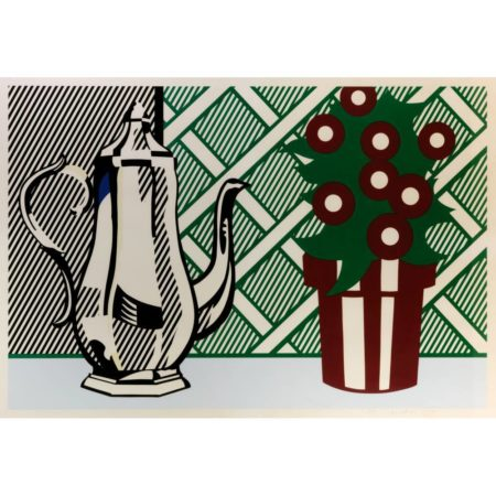Roy Lichtenstein-Still Life with Pitcher and Flowers from Six Still Lifes-1974
