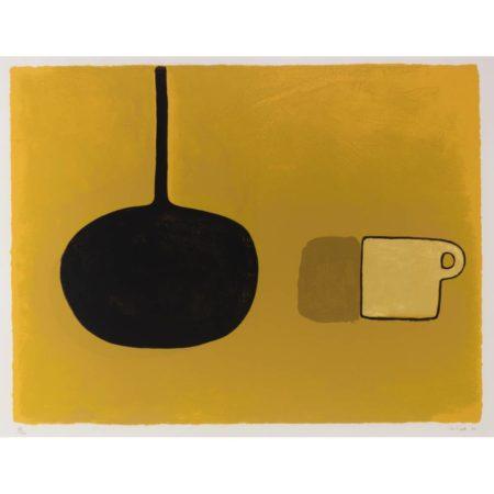 William Scott-Black Pan, Beige Cup on Brown-1970