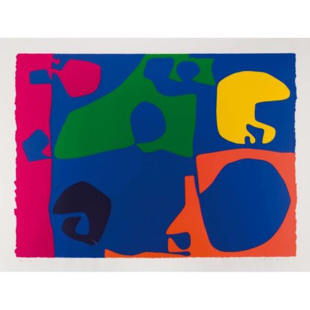 Patrick Heron-Untitled, plate 15 from January Suite-1973