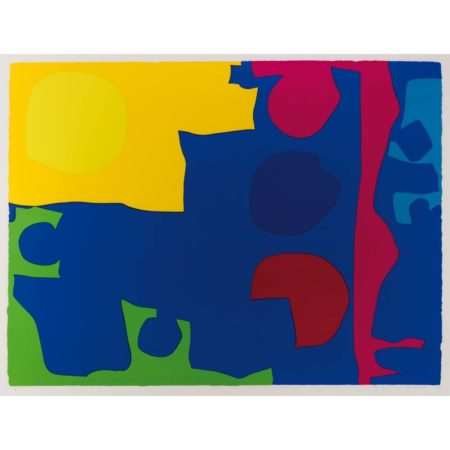 Patrick Heron-Eight including ultramarine-1970