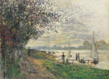 Claude Monet-La Berge Du Petit-Gennevilliers, Soleil Couchant-1875