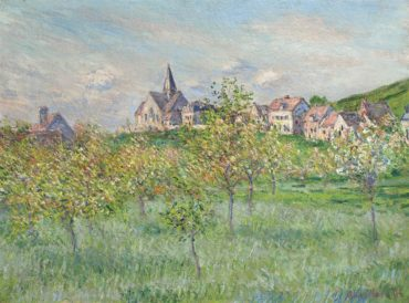 Claude Monet-Printemps A Giverny, Effet Dapres-Midi-1885