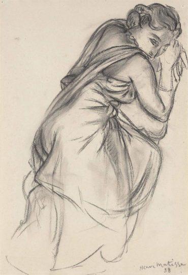 Henri Matisse-Etude Pour Deux Personnages Feminins Et Le Chien-1938