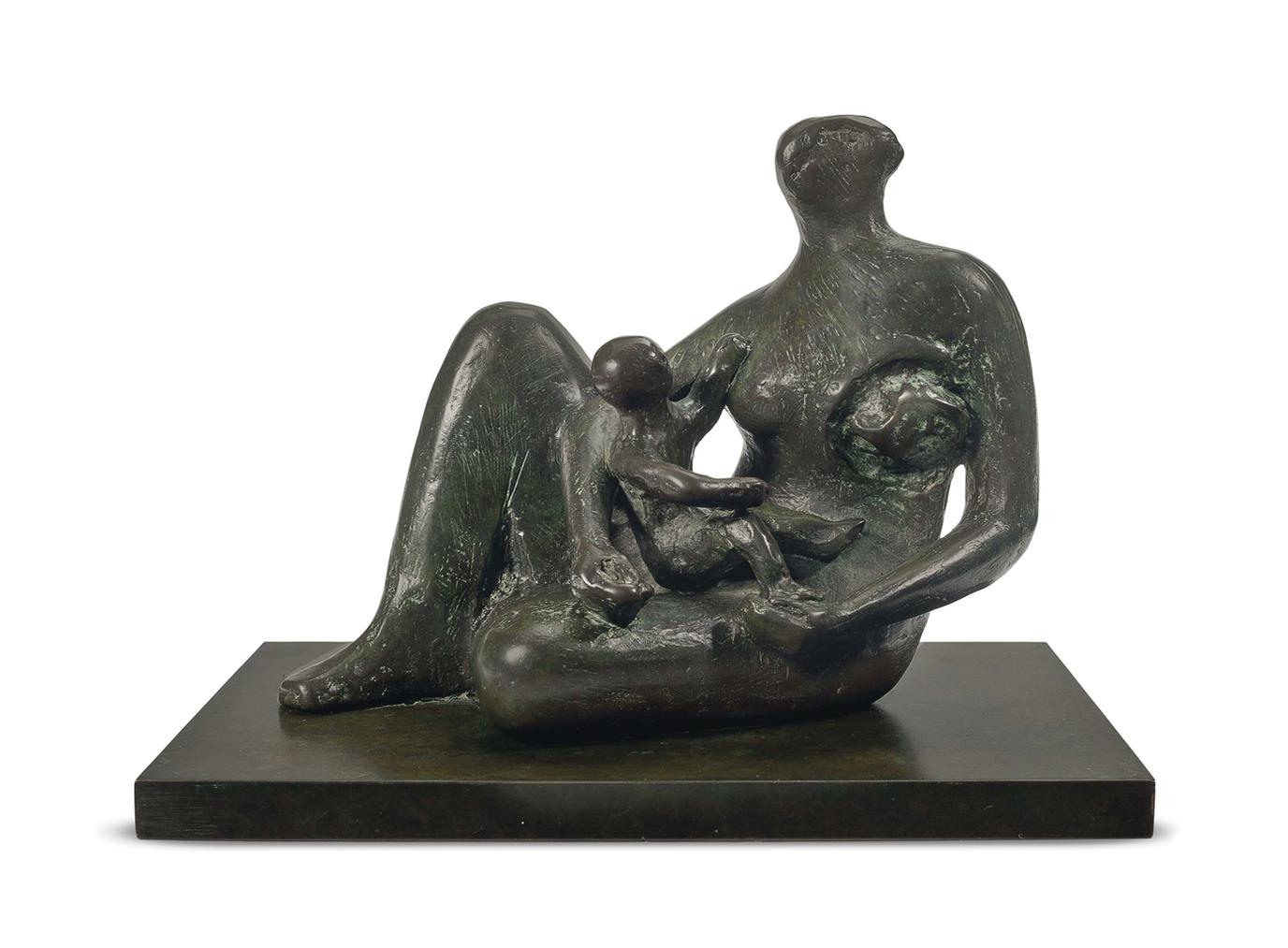 Henry Moore-Semi-Seated Mother And Child-1981