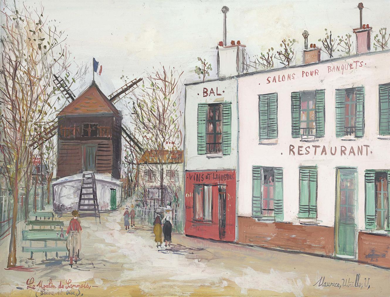 Maurice Utrillo-Le Moulin De Sannois (Val-Doise)-1931
