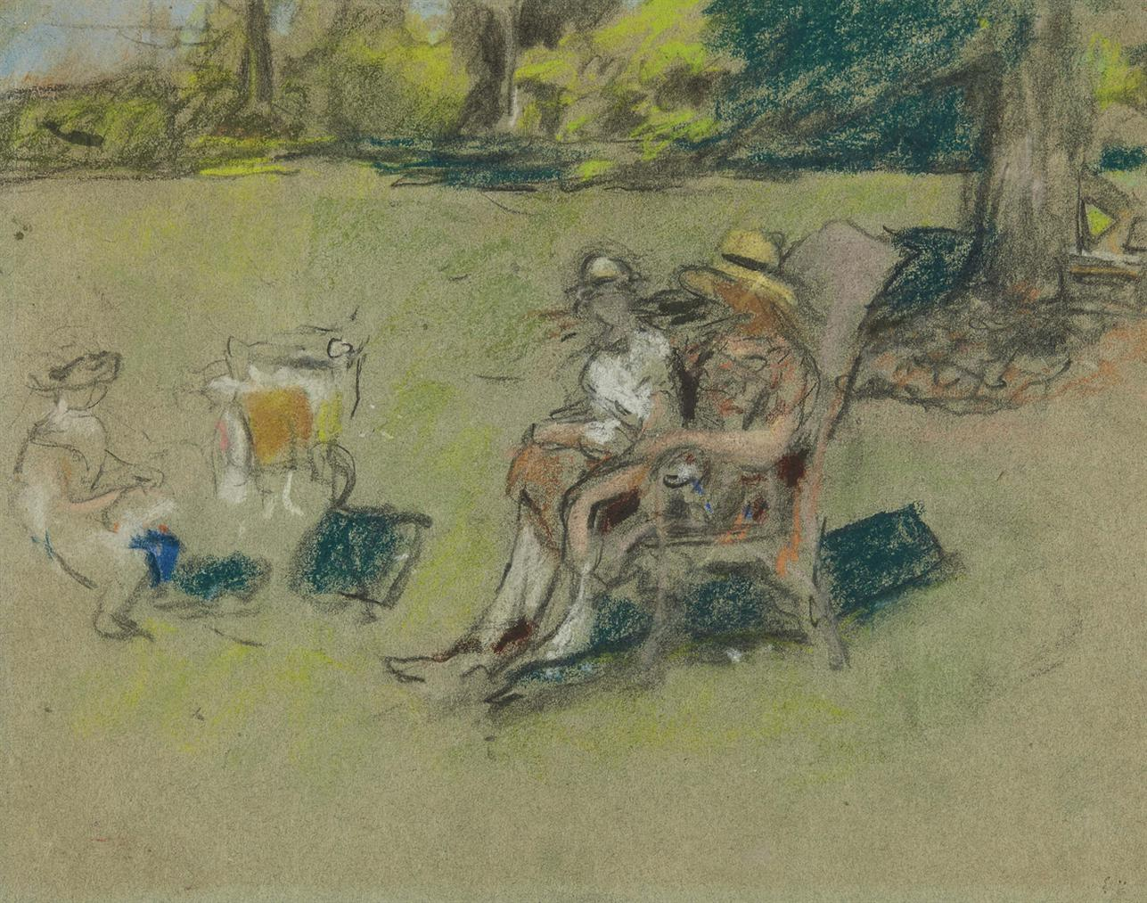 Edouard Vuillard-Madame Henri Kapferer Et Ses Enfants-1926