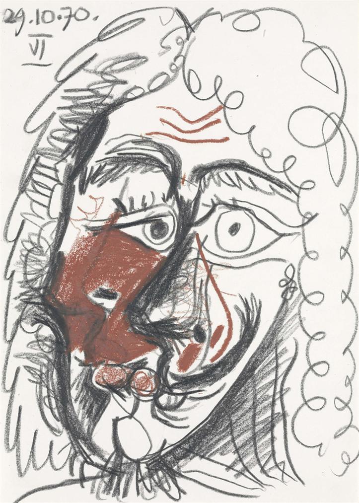 Pablo Picasso-Tete Dhomme-1970