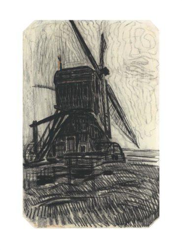 Piet Mondrian-Studie Voor De Winkel Molen-1908