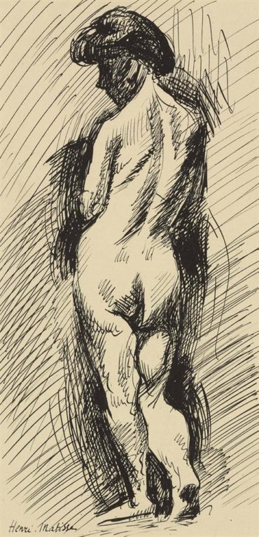 Henri Matisse-Nu De Dos-1904