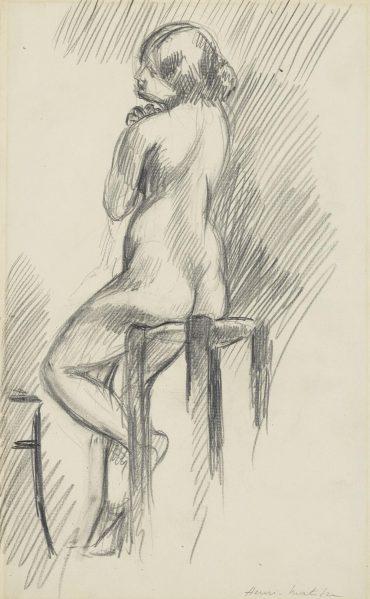 Henri Matisse-Nu Assis Sur Un Tabouret-1906