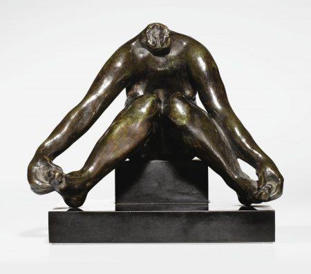 Auguste Rodin-Baigneuse Assise, Jambes Ecartees Dite 'Etude Pour Devant La Mer,' Etude Sans Terrasse, Version Sans Tete-1964
