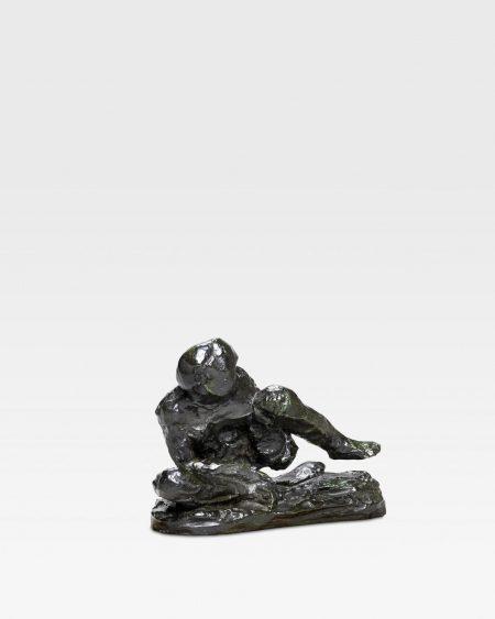 Auguste Rodin-Homme Accroupi, Etude Type C, P.M. Dit Aussi Figure Assise Penchee Vers La Droite Levant La Jambe Gauche-1968