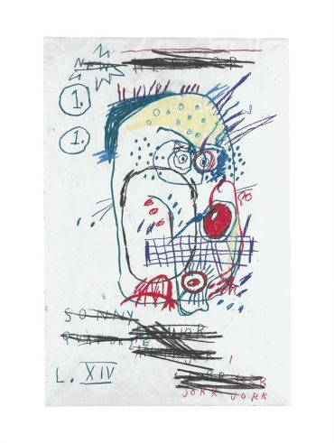 Jean-Michel Basquiat-Untitled (Jorr)-1982