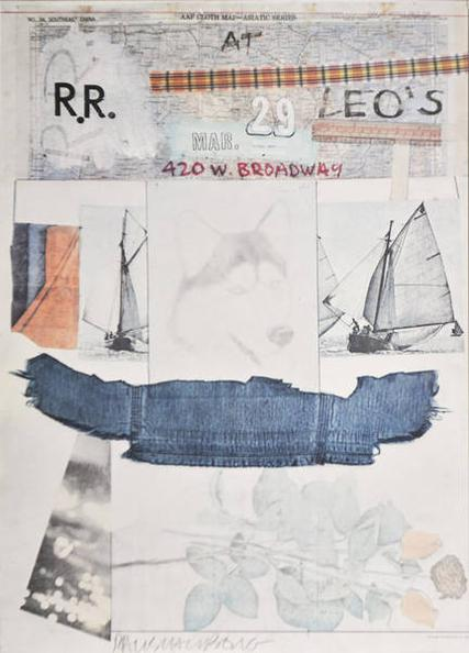 Robert Rauschenberg-RR at Leo's-1980