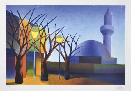 Landscape with Mosque-