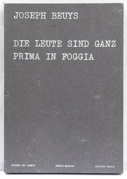 Joseph Beuys-The people are very fine in Foggia-1973