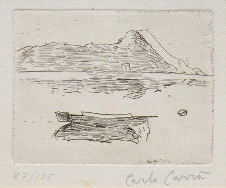 Carlo Carra-Untitled (Lake Maggiore)-1957