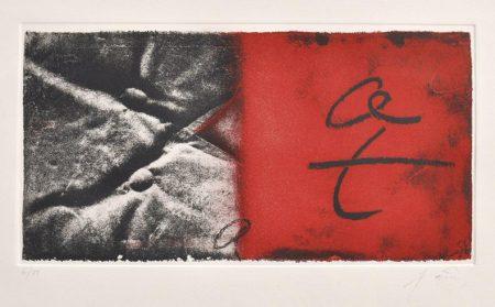 Antoni Tapies-Negre y vermell-1982