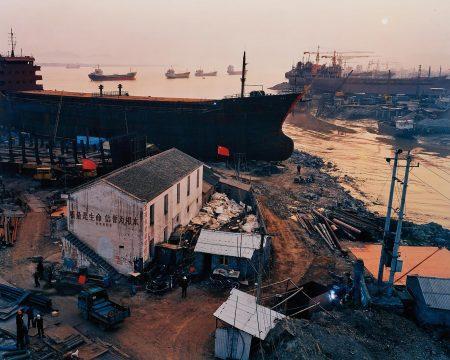 Edward Burtynsky-Shipyard #5 Qili Port, Zhejiang Province, China-2004