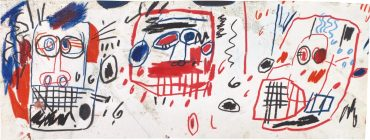 Jean-Michel Basquiat-Untitled (Three Heads)-1982