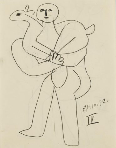 Pablo Picasso-Homme Au Mouton: A Double-Sided Work-1952