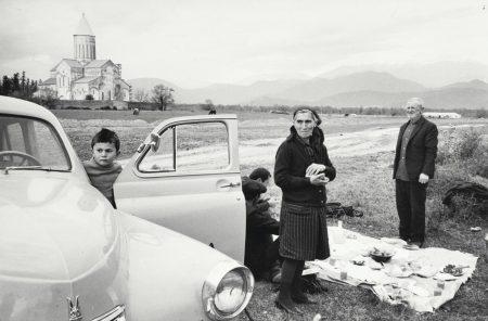 Henri Cartier-Bresson-Kakheti, Telavi, Georgia (Monastery Alavardi). Visitors From The Kolhozes, Celebrating Saint George-1972