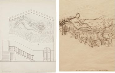 Diego Rivera-Two Works: (i) First Study For The Mural Project At The California School Of Fine Arts (Csfa); (ii) Second Study For The Mural Project At The California School Of Fine Arts (Csfa)-1931