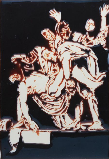 Vik Muniz-The Descent From The Cross, After Caravaggio (From The Series Pictures Of Chocolate)-1999
