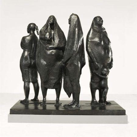 Francisco Zuniga-Grupo De Cuatro Mujeres De Pie-1974