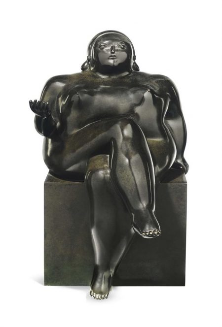 Fernando Botero-Seated Woman-1981