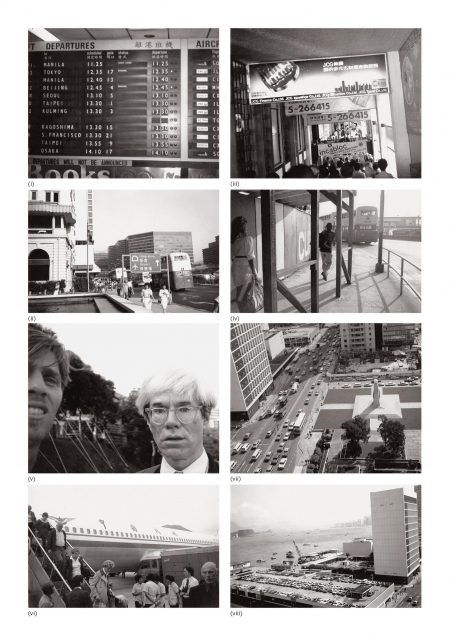 Andy Warhol-Eight Works: (I) Airport; (II) Hong Kong Airport; (III) Pedestrian Walkway And Signs; (IV) Street Scene With People And Bus; (V) Andy Warhol With Christopher Makos; (VI) Airport; (VII) Hong Kong; (VIII) Hong Kong Harbour-1982