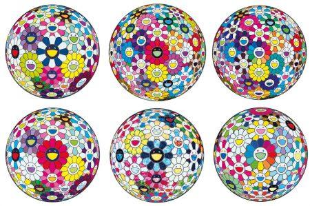 Takashi Murakami-Thoughts On Matisse; Flowerball: Open Your Hands Wide; Awakening; Flowerball: Want To Hold You; Flowerball Multicolor; & The Flowerball'S Painterly Challenge-2015