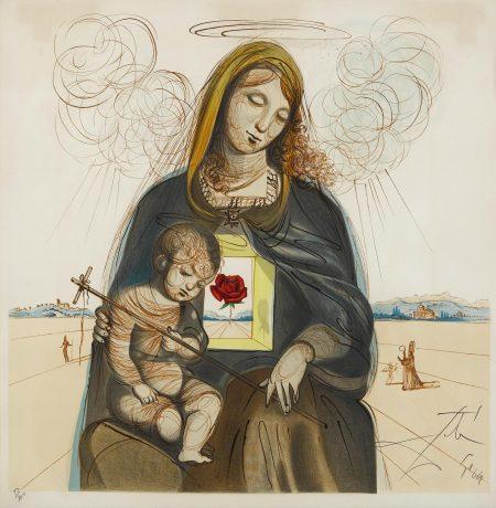 Salvador Dali-Mystical Rose Madonna (M./L. 1140; F. 63-1)-1964