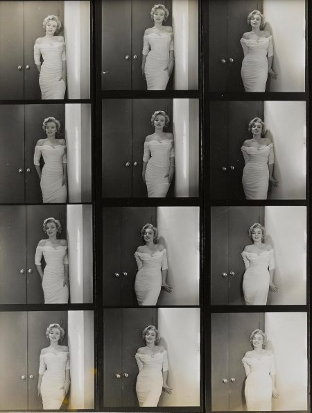 Philippe Halsman-Marilyn Monroe, Contact Sheet, 'Life' Cover-1952