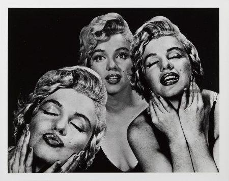 Philippe Halsman-Marilyn Flirting, Triple Portrait-1959
