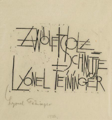 Lyonel Feininger-Zwolf Holzschnitte (Pr. Ed. 4B; W. 12)-1920