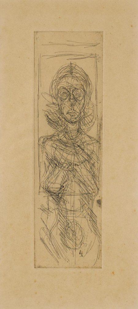 Alberto Giacometti-Annette De Face (L. 62)-1955