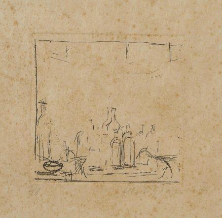 Alberto Giacometti-Bottles In The Studio, From Un Poeme Dans Chaque Livre (L. 98)-1956