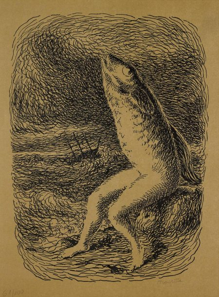 After Rene Magritte - Les Chants De Maldoror-1948